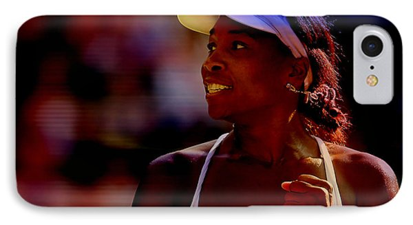 Venus Williams IPhone Case by Marvin Blaine