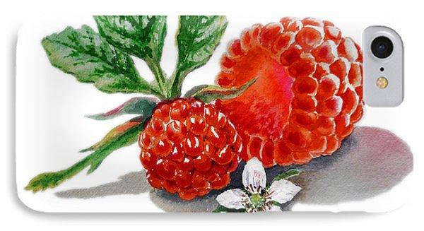 Artz Vitamins A Very Happy Raspberry IPhone Case by Irina Sztukowski