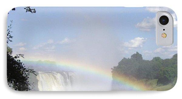 Victoria Falls Rainbow Phone Case by Barbie Corbett-Newmin