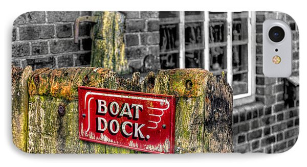 Victorian Boat Dock Sign Phone Case by Adrian Evans