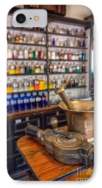 Victorian Chemist Equipment IPhone Case by Adrian Evans