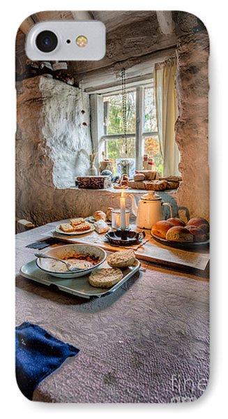 Victorian Cottage Breakfast IPhone Case by Adrian Evans