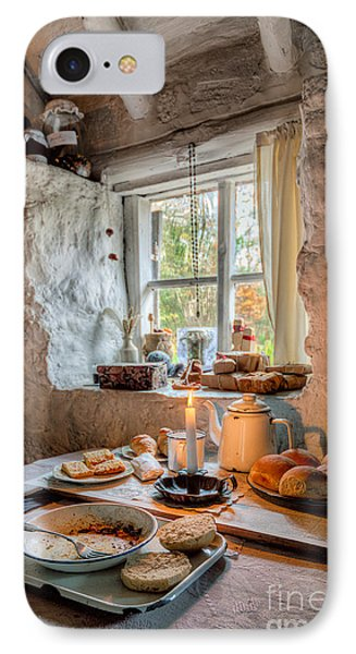 Victorian Cottage Breakfast V.2 IPhone Case by Adrian Evans
