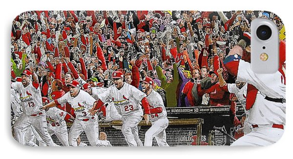 Victory - St Louis Cardinals Win The World Series Title - Friday Oct 28th 2011 IPhone 7 Case by Dan Haraga