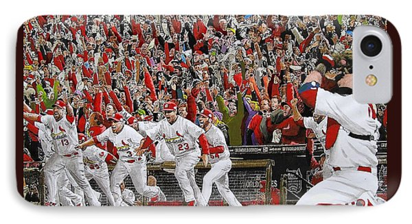 Victory - St Louis Cardinals Win The World Series Title - Friday Oct 28th 2011 IPhone Case by Dan Haraga
