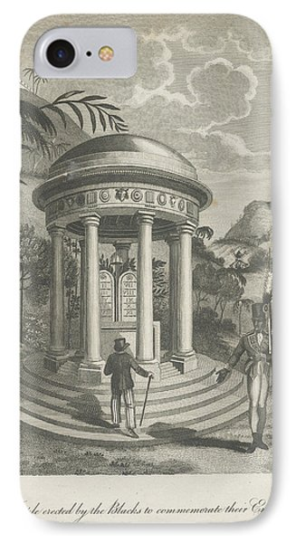 View Of A Temple IPhone Case by British Library