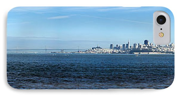 View Of Alcatraz Island And San IPhone Case by Panoramic Images