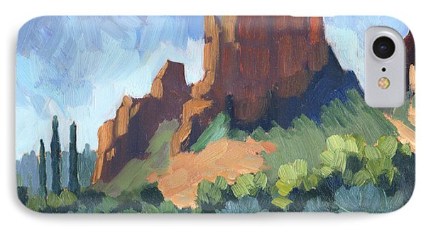 View Of Cathedral Rock Sedona IPhone Case by Diane McClary