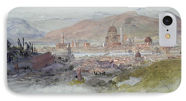View Of Florence IPhone Case by Samuel Palmer