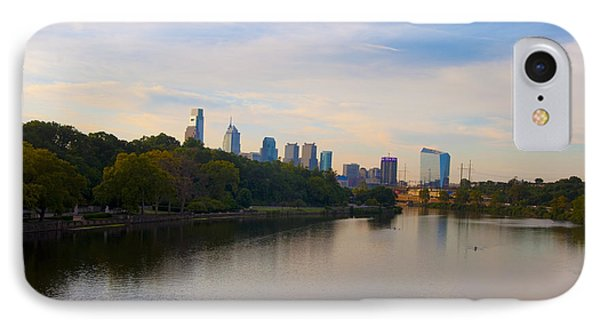 View Of Philadelphia From The Girard Avenue Bridge IPhone Case by Bill Cannon
