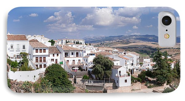View Of Ronda, Malaga Province IPhone Case by Panoramic Images