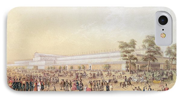 View Of The Crystal Palace IPhone Case by George Baxter