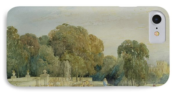 View Of The Gardens At Chatsworth IPhone Case by Frances Elizabeth Swinburne