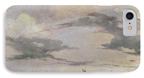 View Of The Lagoon Near Venice, 1826  IPhone Case by Richard Parkes Bonington