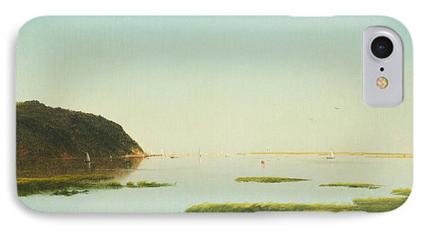 View Of The Shrewsbury River New Jersey IPhone Case by John Frederick Kensett