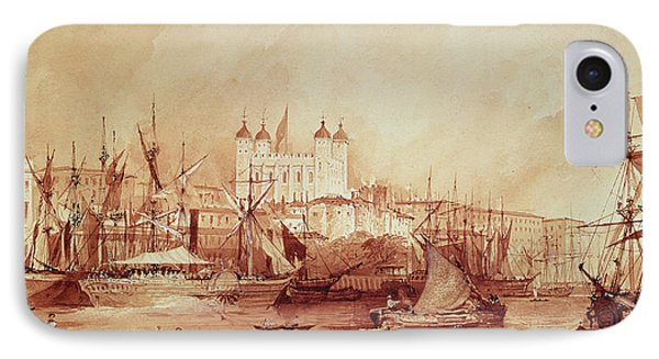 View Of The Tower Of London IPhone Case by William Parrott