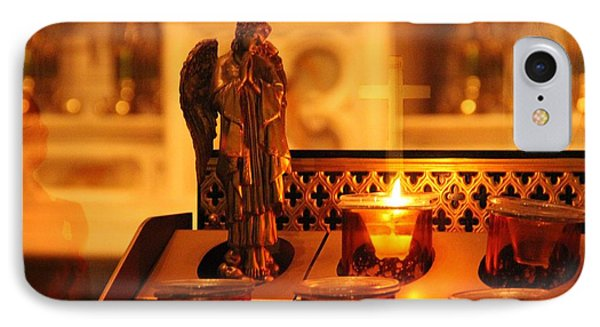Vigil Light For Virgin Mary IPhone Case by Dan Sproul