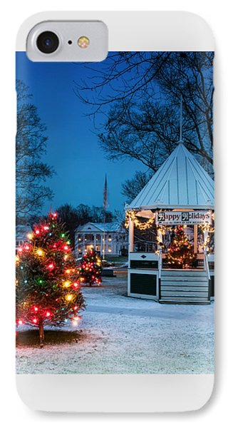 Village Green Holiday Greetings- New Milford Ct - Phone Case by Thomas Schoeller