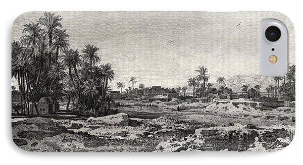 Village Of Karnak IPhone Case by Litz Collection