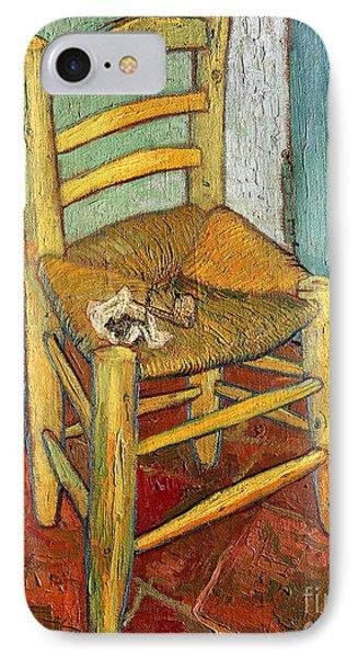 Vincent's Chair 1888 IPhone Case by Vincent van Gogh