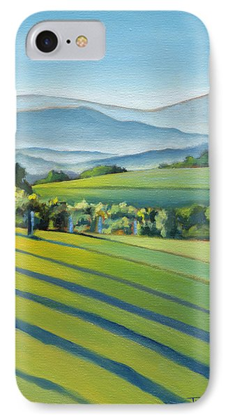 Vineyard Blue Ridge On Buck Mountain Road Virginia IPhone 7 Case by Catherine Twomey