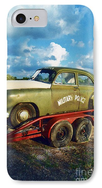Vintage American Military Police Car Phone Case by Kathy Fornal