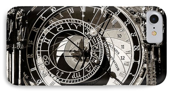 Vintage Astronomical Clock Phone Case by John Rizzuto