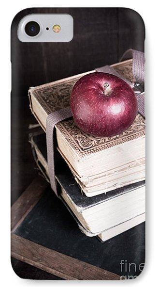 Vintage Back To School IPhone Case by Edward Fielding