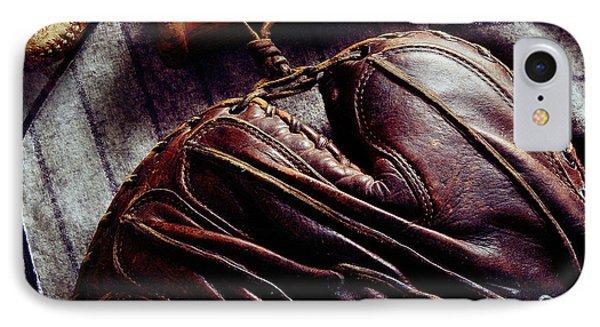 Vintage Baseball IPhone Case by Jon Neidert