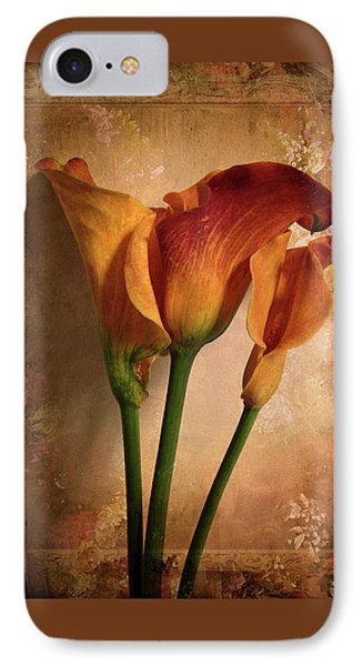 Vintage Calla Lily IPhone 7 Case by Jessica Jenney