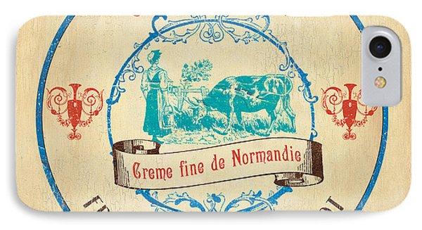 Vintage Cheese Label 3 IPhone Case by Debbie DeWitt