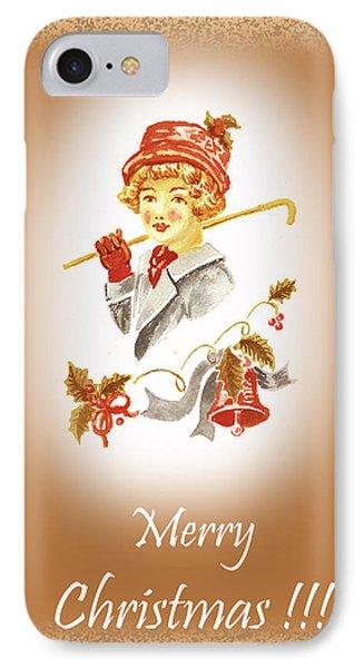 Vintage Christmas  IPhone Case by Irina Sztukowski
