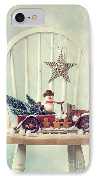 Vintage Christmas Truck IPhone Case by Amanda Elwell