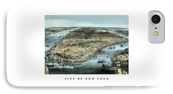 Vintage City Of New York IPhone Case by War Is Hell Store