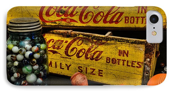 Vintage Coca Cola And Toys IPhone Case by Paul Ward