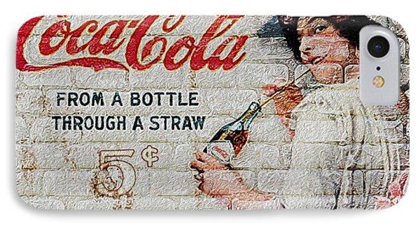 Vintage Coke Sign IPhone Case by Jack Zulli