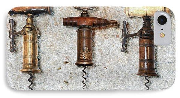 Vintage Corkscrews Painting IPhone Case by Jon Neidert