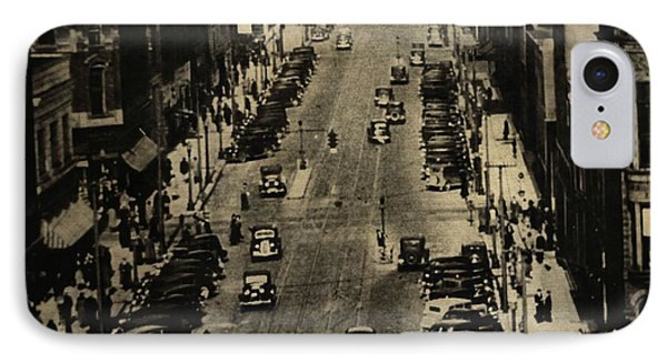 Vintage Downtown View IPhone Case by Dan Sproul