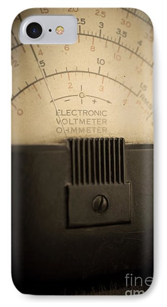 Vintage Electric Meter Phone Case by Edward Fielding