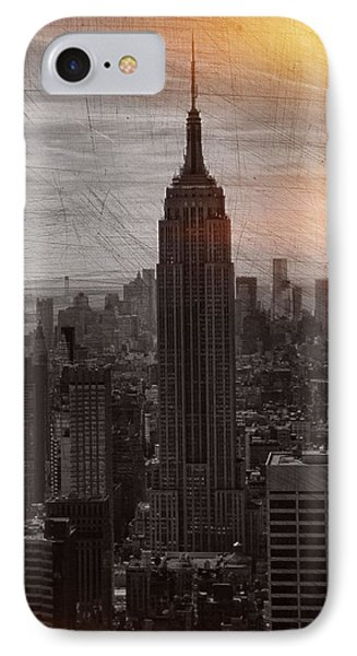 Vintage Empire State Building IPhone Case by Dan Sproul