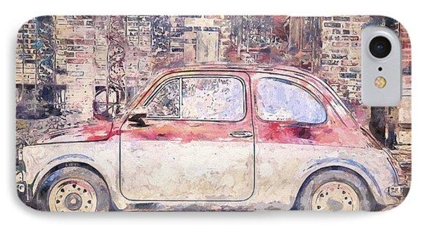 Vintage Fiat 500 IPhone Case by Scott Norris