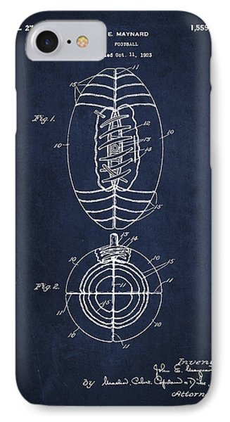 Vintage Football Patent Drawing From 1923 Phone Case by Aged Pixel