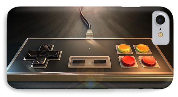 Vintage Gaming Controller IPhone Case by Allan Swart