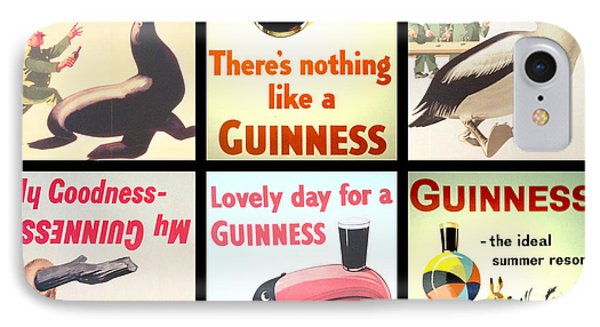 Vintage Guinness  IPhone Case by Georgia Fowler