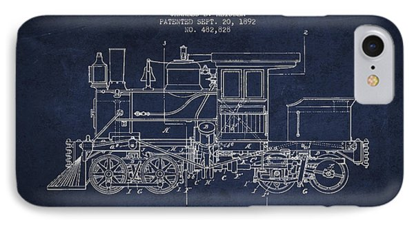 Vintage Locomotive Patent From 1892 IPhone 7 Case by Aged Pixel