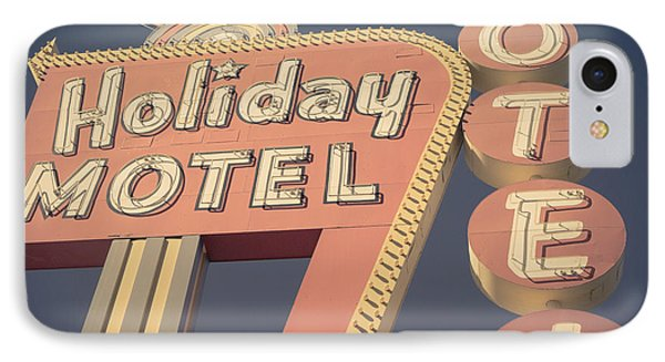 Vintage Motel Sign Square IPhone Case by Edward Fielding