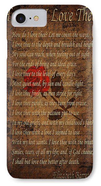 Vintage Poem 4 IPhone Case by Andrew Fare