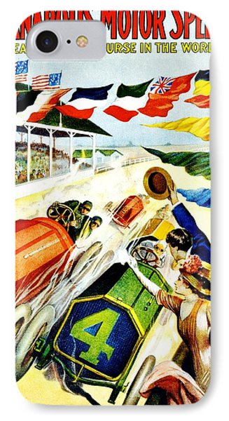Vintage Poster - Sports - Indy 500 IPhone Case by Benjamin Yeager