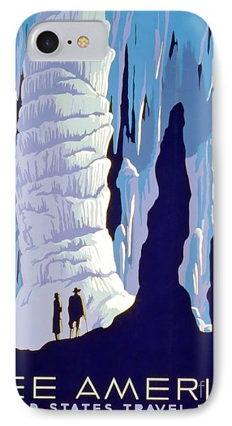 Vintage Wpa Poster See America Phone Case by Edward Fielding