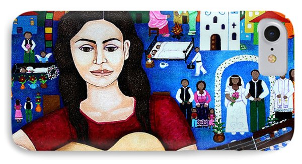 Violeta Parra And The Song Black Wedding Phone Case by Madalena Lobao-Tello